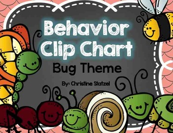 Behavior Clip Chart {Bug Theme}
