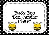 Behavior Clip Chart- Busy Bee Theme