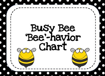 Behavior Clip Chart- Busy Bee Theme