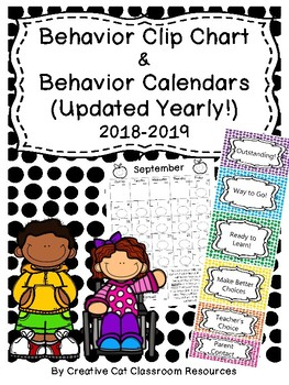 Behavior Clip Chart & Monthly Behavior Calendars~ Polka Dot