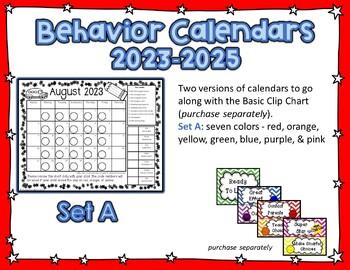 Behavior Clip Chart Calendars for 2017-2018
