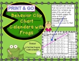 Behavior Clip Chart Calendars for Frogs 2019-2020 (Print and Go)