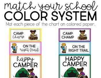 Camp Behavior Clip Chart
