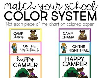 Camp Behavior Clip Chart