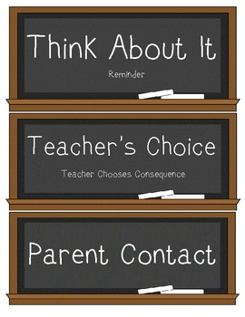 Behavior Clip Chart Chalk Board Theme