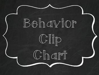 Behavior Clip Chart - Chalkboard