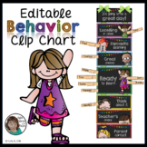 Behavior Clip Chart Chalkboard EDITABLE