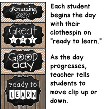Behavior Clip Chart Chalkboard Farmhouse