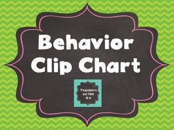Behavior Clip Chart {Chalkboard & Rainbow}