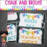 Chalk and Bright Behavior Clip Chart  Editable