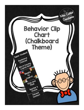 Behavior Clip Chart (Chalkboard Theme)