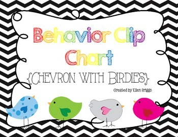Behavior Clip Chart {Chevron & Birdies}