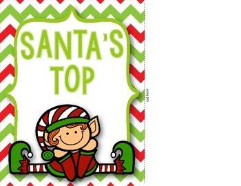 Behavior Clip Chart {Christmas Theme}