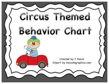 Behavior Clip Chart- Circus Theme