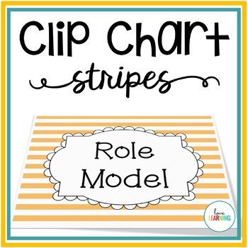 Behavior Clip Chart - Classroom Management {Stripes}