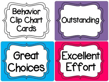 Behavior Clip Chart (Classroom Management Tool) Editable