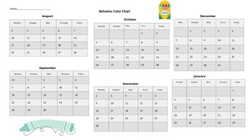 Behavior Clip Chart Color Graph
