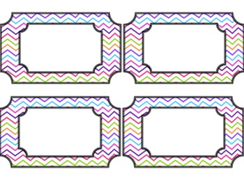 Behavior Clip Chart- Colorful Chevron