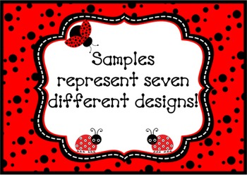 Behavior Clip Chart - Coordinates with Ladybugs and Dots Theme