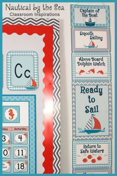 Behavior Clip Chart – Coordinates with Nautical by the Sea Collection
