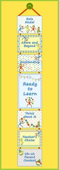 Behavior Clip Chart – Coordinates with Sock Monkey Classroom Theme
