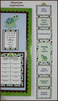 Behavior Clip Chart – Coordinates with Turtle Time Collection