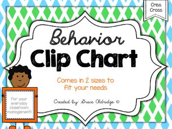 Behavior Clip Chart {Criss-Cross}