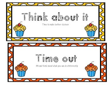 Behavior Clip Chart - Cupcake Theme