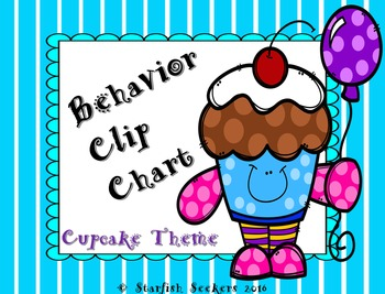 Behavior Clip Chart - Cupcake Theme