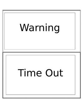 Behavior Clip Chart Cut-outs