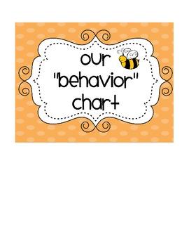 Behavior Clip Chart Damask Print Labels