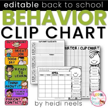 Behavior Clip Chart & Data Recording Charts {Melonheadz}