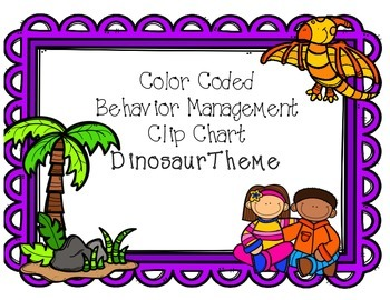 Behavior Clip Chart - Dinosaur Theme