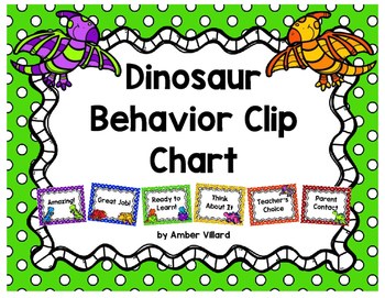 Behavior Clip Chart {Dinosaurs}