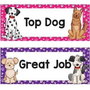 Behavior Clip Chart Dog Themed