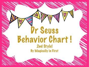 Behavior Clip Chart - Dr Seuss {Style # 2}