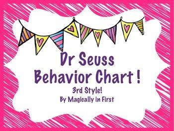 Behavior Clip Chart - Dr Seuss {Style # 3}