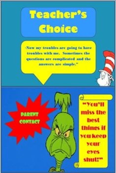 Behavior Clip Chart (Dr. Seuss Themed)