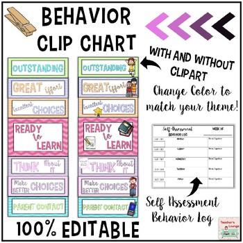 Behavior Clip Chart - EDITABLE