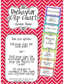 Behavior Clip Chart - Chevron theme