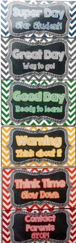 Behavior Clip Chart - EDITABLE~ChEvRoN & ChAlKbOaRd Management System~