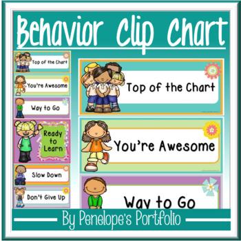 Classroom Management Behavioral System:  Behavior Clip Chart - Editable
