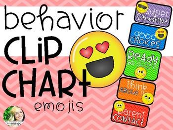 Behavior Clip Chart - Emojis