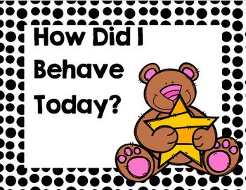 Behavior Clip Chart (English)