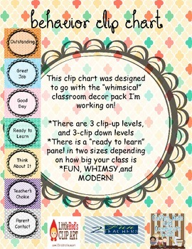 Behavior Clip Chart- FUN, WHIMSY and MODERN!