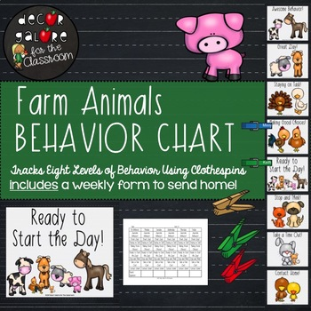 Behavior Clip Chart - Farm Animals Decor