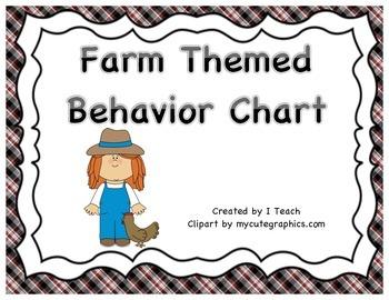 Behavior Clip Chart- Farm Theme
