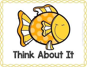 Behavior Clip Chart: Fish Theme {editable version included}