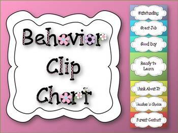 Behavior Clip Chart Flower Theme