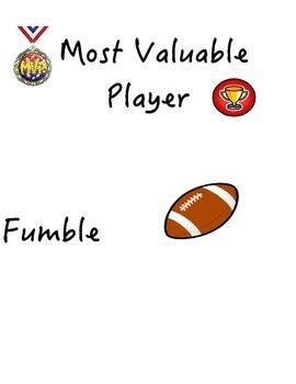 Behavior Clip Chart Football Theme